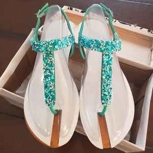 Turquoise Stone Sandals